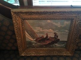 Reproduction Painting with Victorian Gold Frame