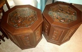 Carved End Tables