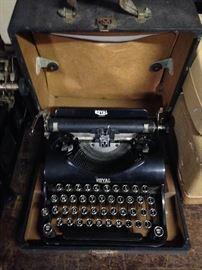 Royal Vintage typewriter with case.