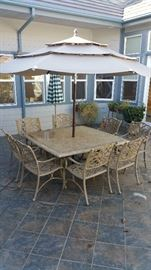 Fantastic high quality wrought iron patio set