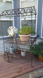 Vintage French florist's cart