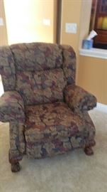 upholstered wing chair recliner - 2 available