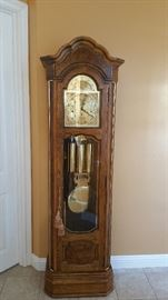 Howard Miller 1980's Grandfather clock w/ moon dial