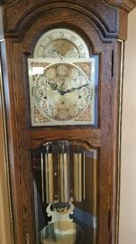 1980's Howard Miller Grandfather clock w/moon dial