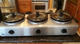 3 burner slow cooker - great for entertaining