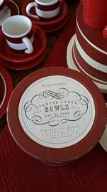 Williams & Sonoma boxed sets - Red stamped