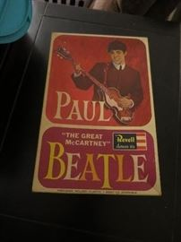 Beatles Paul McCartney Revell 1964 Original Box, Sealed Bagged Model Inside