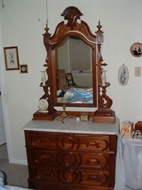 Awesome marble top Victorian dresser