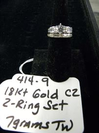18kt Gold Wedding Ring Set