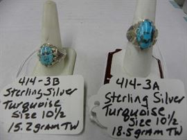 Sterling Silver & Turquoise Rings
