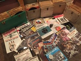 Huge 45 record collection from 60s-70s