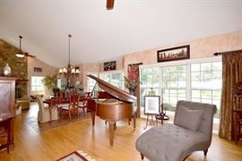 Grand piano and chaise lounge are NOT for sale