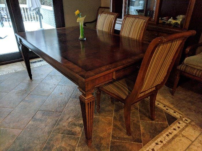 Listed By MT House Estate Moving Sales Sale Ethan Allen Bedroom Furniture Dining Room Table China Cabinet Designer