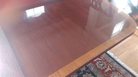 ETHAN ALLEN BANDED DINING ROOM TABLE