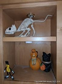 Assorted vintage and reproduction Halloween Decorations.