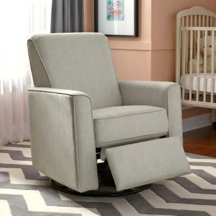 cool swivel glider recliner in living room with