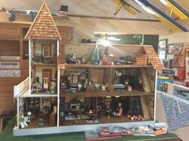 This is the inside of the doll house. The Doll House will be sold with all the contents.