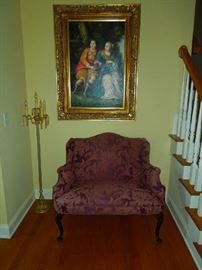 Love Seat and Framed Art