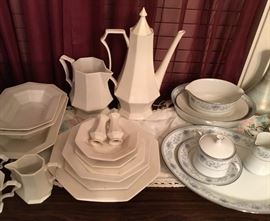 Independence Iron Stone (82 pieces).                     Noritake Blue Hill