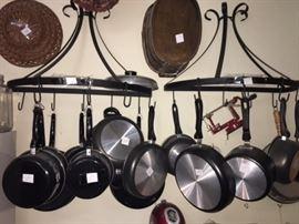 various pot and pans