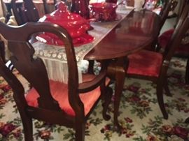 Cresent - solid cherry wood- dining room table with 6 matching chairs
