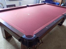 Brunswick slate pool table. Regulation size.