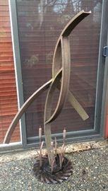 """Abstract outdoor metal bird sculpture - 54"""" tall"""