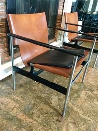 Pair of Vintage 657 Sling Chairs by Charles Pollock for Knoll