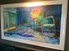 "ORIGINAL Large Carol Carter art ...acrylic on canvas.  Frame measures 74"" x 45"". Stunning piece!"