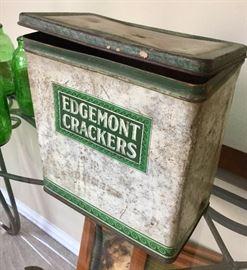 Vintage Edgemont cracker tin.