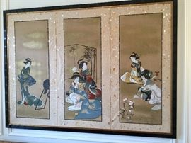 Original Chinoiserie panel art said to be from the early 1900's