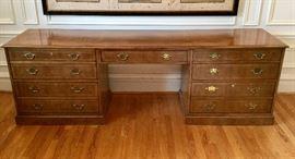 Vintage Baker Executive Desk/Credenza
