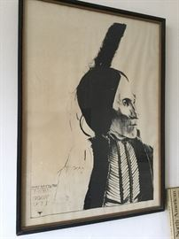 Chief White  Man Kiowa by Leonard Baskin