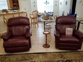 2 Recliners- Note that one is smaller than the other, so you have 2 sizes to choose from