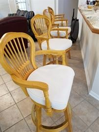 Bar Stools.  Selling all 4 as a set, owner will not split them up.