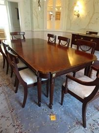 "84"" X 52"" - Stanton Dining Table Seats 8 with leaves & pads + 16"" leaves"