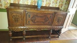 $175   Carved wood buffet