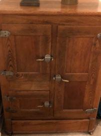 Large oak icebox