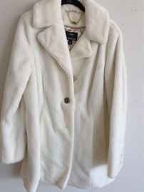 New winter white faux fur jacket by Dennis Basso (QVC)
