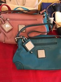 We have over 100 new purses!  Brands include:  Nine West, Tommy Hilfiger, Stone Mountain, Izod,  & Tignanello