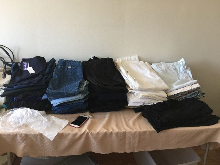 over 100+ pairs of pants (most size 10-14)