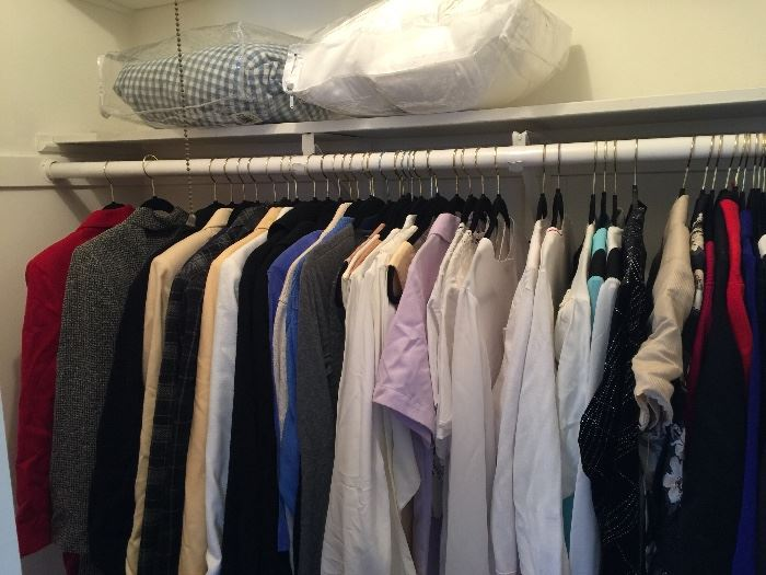 one of 5 packed closets