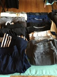 Some men's clothing.  Brands include: American Eagle, Gap, Banana Republic, Levis, Express.  Mostly size S-M