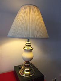 traditional brass & ceramic lamp