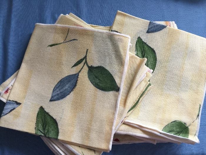 new cloth napkins- have several tablecloths that match these