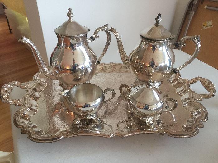 Beautiful Leonard Silverplate coffee/tea set