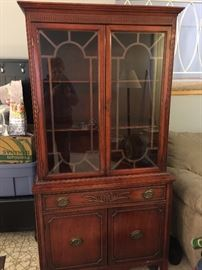 vintage china cabinet.  Great storage/display for a smaller space.  beautiful condition.