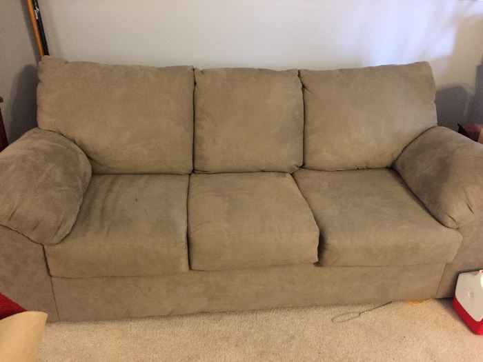 micro-suede couch - nice condition...very comfortable!