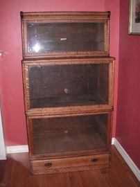 Globe Wernicke step back bookcase - unusual size