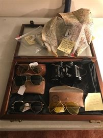 Aviation glasses some gold filled Welsh and Ray Ban Vintage German? Binoculars